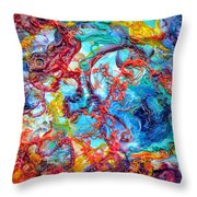 Ernstian Explosion Throw Pillow