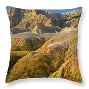Eroded Buttes Badlands National Park Throw Pillow