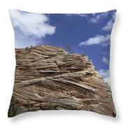 Eroded Sandstone Zion Np Utah Throw Pillow