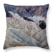 Erosional Landscape - Zabriskie Point Throw Pillow