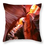 Erosions At Antelope Canyon Throw Pillow