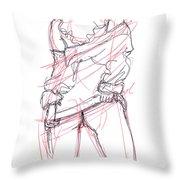 Erotic Art Drawings 6 Throw Pillow