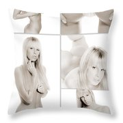 Erotic Beauty Collage 18 Throw Pillow