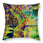 Erotic Devoted To To Dance And Music Throw Pillow