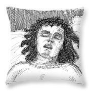 Erotic-drawings-24 Throw Pillow