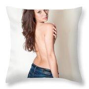 Erotic Studio Portrait Throw Pillow