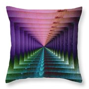 Erratic Portal Throw Pillow