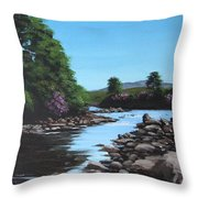 Erriff River Throw Pillow