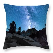 Eruption Of The Milky Way Throw Pillow