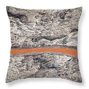 Eruption Residue Throw Pillow