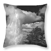 Eruptions By The Clock Throw Pillow