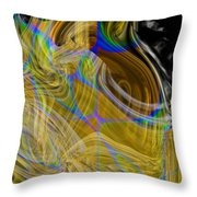 Eruptive Constructive Throw Pillow