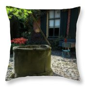 Erve Brooks Well In Holland Throw Pillow