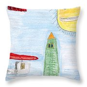 E's Helicopters Throw Pillow