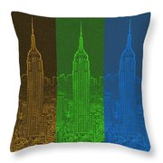 Esb Spectrum Throw Pillow