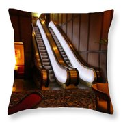 Escalator In The Brown Palace Throw Pillow