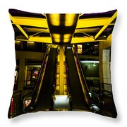 Escalator Lights Throw Pillow