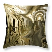 Escape From Cell Block Seven Throw Pillow
