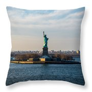 Escape From Ny Throw Pillow
