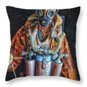Escape Suit Russian Submarine Sailor Throw Pillow