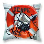 Escape To The Sea Throw Pillow