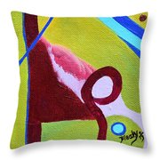 Escaping Tradition Throw Pillow