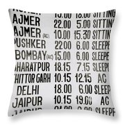 The Joy Of Travel Throw Pillow