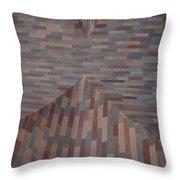 Escher Joins The Masons Throw Pillow