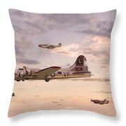 Escort Service Throw Pillow by Pat Speirs