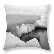 Eskimo Boys Ice Fishing Barrow Alaska  July 1969 Throw Pillow