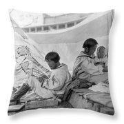 Eskimo Family, C1901 Throw Pillow