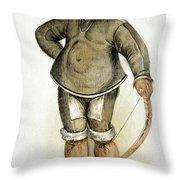 Eskimo Man Throw Pillow