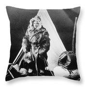 Eskimo Woman Throw Pillow