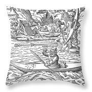 Eskimos Hunting, 1580 Throw Pillow