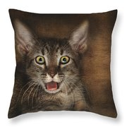 Esmarelda Yawns Throw Pillow