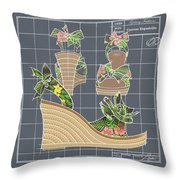 Espadrille - Tropicale Throw Pillow