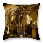 Espanola Way In Miami South Beach Throw Pillow