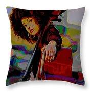 Esperanza Spalding Throw Pillow