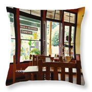 Espresso - Aloha Angel Cafe Throw Pillow