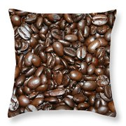 Espresso Beans Throw Pillow