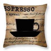 Espresso Madness Throw Pillow