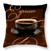 Espresso Passion Throw Pillow