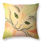 Essence Of Cat Throw Pillow