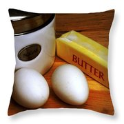 Essential Baking Ingredients Throw Pillow