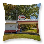 Esso Dealer Throw Pillow