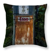 Esso Gas Pump Throw Pillow