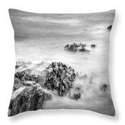 Estacas Beach Galicia Spain Throw Pillow