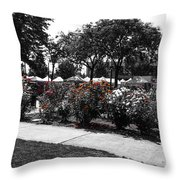 Esther Short Park Rose Garden Throw Pillow