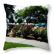 Esther Short Park Rose Gardens Throw Pillow