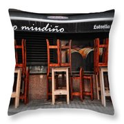 Estrella Galicia Throw Pillow